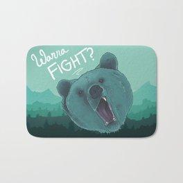 Bear Fight Bath Mat