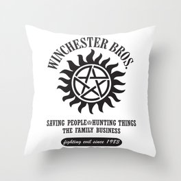 SUPERNATURAL WINCHESTER BROTHERS DEAN AND SAM Throw Pillow