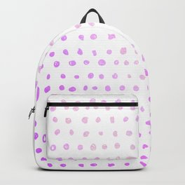 Purple Ombre Watercolor Dots Backpack
