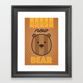 Happy new Bear Framed Art Print