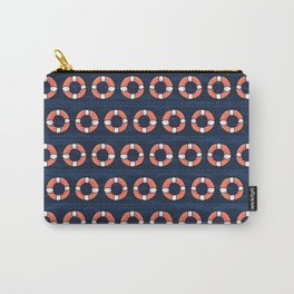 Cute lifering stripe cartoon seamless pattern. Carry-All Pouch