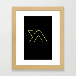 Youth Alive Yellow & Black on Black Framed Art Print
