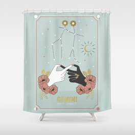 Gemini Zodiac Series Shower Curtain