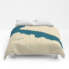 Modern Map - Puglia region Italy Comforters