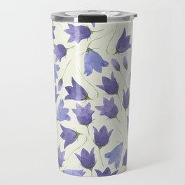 Vintage Pressed Flowers - Bellflower Travel Mug