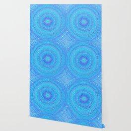 Aqua, Blues and Purple Wallpaper