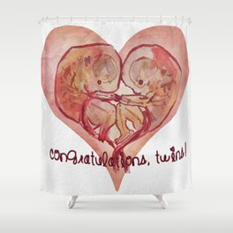 Twins! Shower Curtain