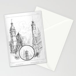 Georg Sutter - The Tower Book (1888): 17 Town Halls of Altenberg and Rothenberg ob der Tauber Stationery Cards