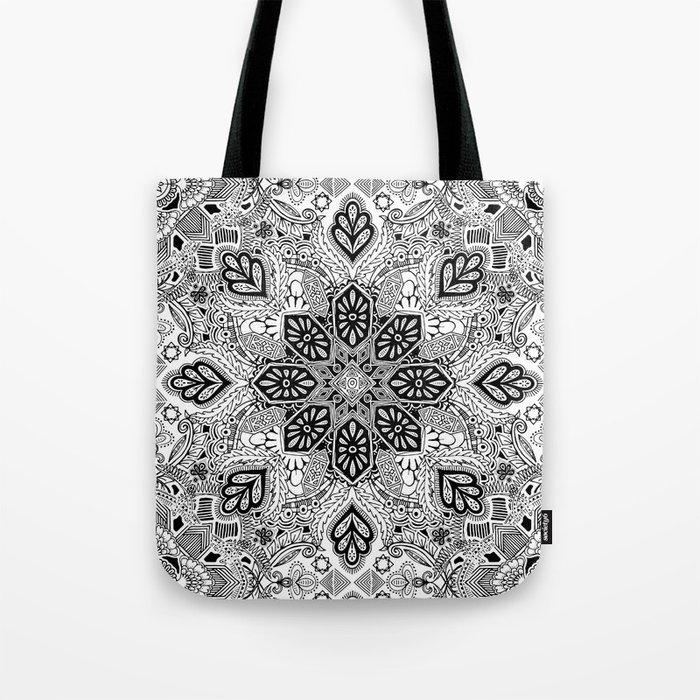 Gypsy Lace in Monochrome Tote Bag