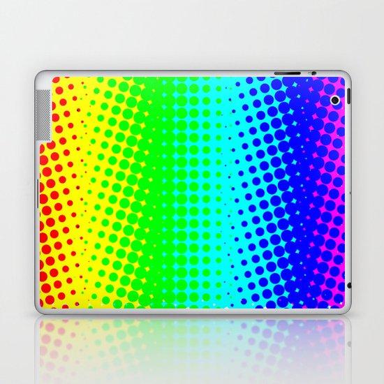 RAINBOW COLOR DOT Laptop & iPad Skin