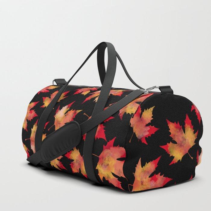 Maple leaves black Duffle Bag