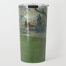 Vincent Van Gogh - Orchards in blossom, view of Arles Travel Mug
