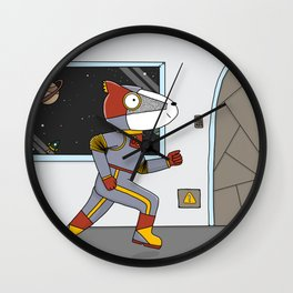 Space Badger Wall Clock