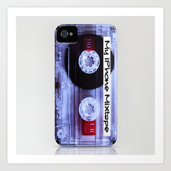 Iphone Mixtape Cassette Art Print