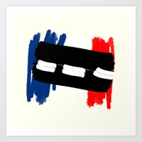 tour de france Art Prints featuring Tour de France by Mordecai