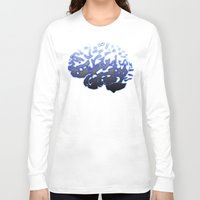 brain Long Sleeve T-shirts featuring Brain by Temi Alli