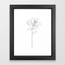 Fill Lily Framed Art Print