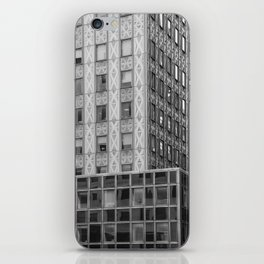 Geometric New York Architecture in Black and White iPhone Skin