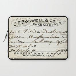 Vintage Prescription Label Laptop Sleeve