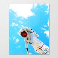 spaceman Canvas Prints featuring Spaceman by Richwill Company