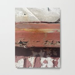 Rusty Brick Metal Print