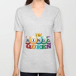 Bingo Queen Bingo Player Gift Funny Unisex V-Neck
