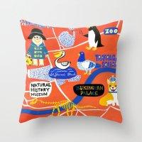 london map Throw Pillows featuring LOndOn Map by Hui_Yuan-Chang
