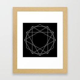 Poly Constellation Outline Framed Art Print