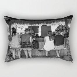 Girls at a beach bar cafe - Fine art photography Rectangular Pillow