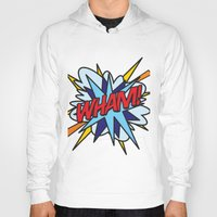 comic book Hoodies featuring Comic Book WHAM! by Thisisnotme