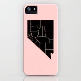 Nevada map iPhone Case
