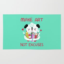 Make Art Not Excuses Rug