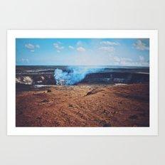 Volcano Smoke Art Print