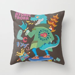 King of Monsters Throw Pillow