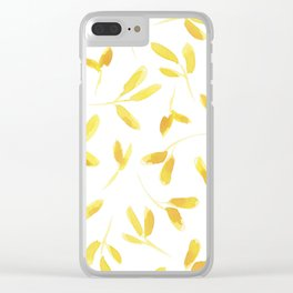 Yellow Leaves Clear iPhone Case