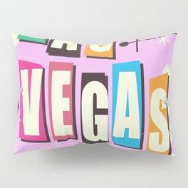 Vintage Las Vegas Vacation print pink version Pillow Sham