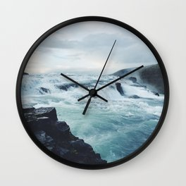 Gullfoss #1 Wall Clock