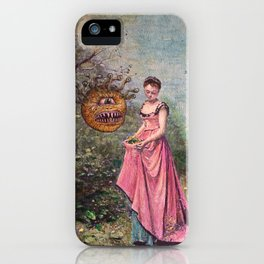 Girl and Beholder iPhone Case