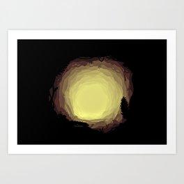 Mystical Cave Art Print