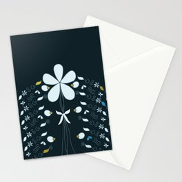 Night Garden Pattern Stationery Cards
