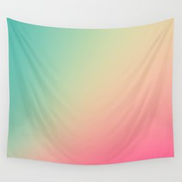 Gradient Colours: Turquoise Pink Pastel Wall Tapestry