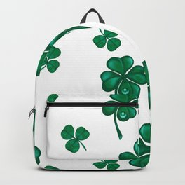 Good luck! Four leaf clover seamless pattern  Backpack