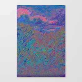 Evening In The Tall Grass Canvas Print
