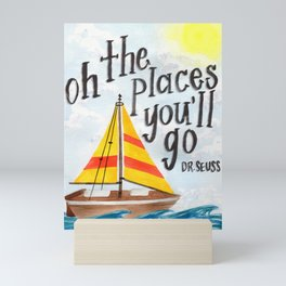 Oh the Places You'll Go - Dr. Seuss Mini Art Print
