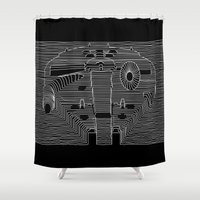 joy division Shower Curtains featuring Millenium division by BomDesignz
