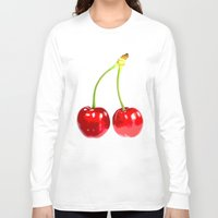 cherry Long Sleeve T-shirts featuring Cherry by morganPASLIER