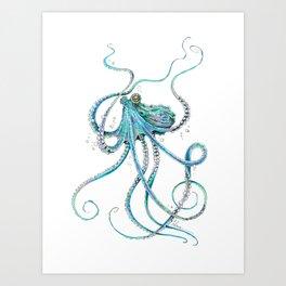 Drunk Octopus Art Print