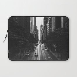 New York City (Black and White) Laptop Sleeve