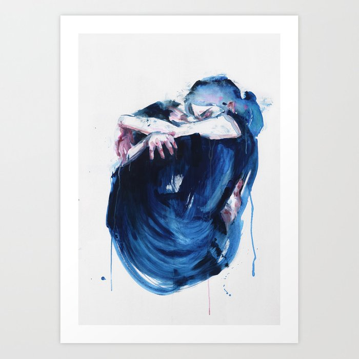 Discover the motif THE NOISE OF THE SEA by Agnes Cecile as a print at TOPPOSTER