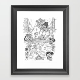 The Defamation of Normal Rockwell III (NSFW) Framed Art Print